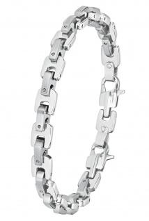 s.Oliver 2026149 Herren Armband Edelstahl Silber 21, 5 cm