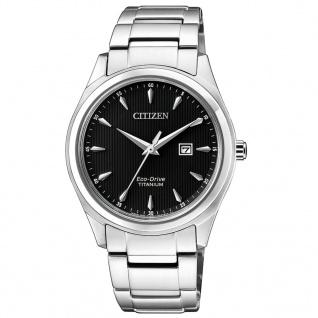 Citizen EW2470-87E Eco-Drive Uhr Herrenuhr Titan Datum Silber