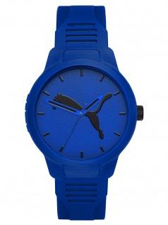 PUMA P5014 Uhr Herrenuhr Plastik blau