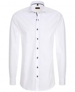 Eterna Herrenhemd Langarm 8585/00/F182 Hemd Slim Fit Weiß M/40