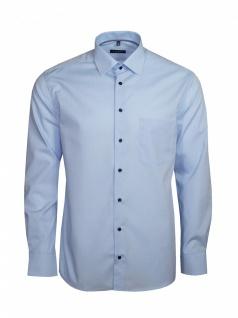 Eterna Herren Hemd Langarm Modern Fit Hemden 8504/10/X19P Blau L/42