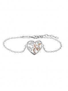 Julie Julsen JJBR0505.8 Armband Lebensbaum Bicolor Rose Weiß 20 cm