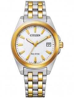 Citizen EO1214-82A Eco Drive Uhr Damenuhr Edelstahl Datum bicolor