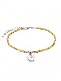 Julie Julsen Fußkettchen Sonne Spirit Silber Gelb 26, 5 cm