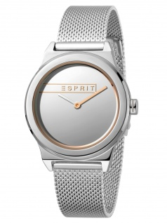 Esprit ES1L019M0075 Magnolia Silver Mesh Uhr Damenuhr Edelstahl Silber