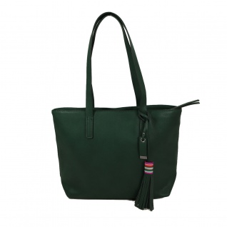 Esprit Wendy Shopper Grün Leder Handtasche Tasche Henkeltasche