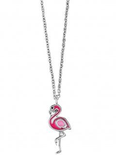 Herzengel HEN-FLAMINGO Mädchen Collier Flamingo Silber pink 42 cm