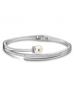 LOTUS LS2021-2/2 Damen Armreif Edelstahl Silber Weiß