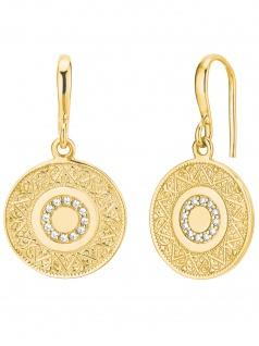 s.Oliver 2027624 Damen Ohrringe Orientalisches Muster Gold weiß