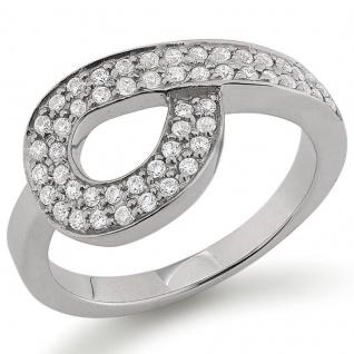 SELEXION 53EX754 Damen Ring Silber weiß 54 (17.2)