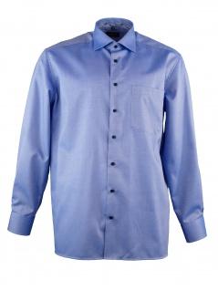 Eterna Herren Hemd Langarm Comfort Fit XL/43 Blau 8463/16/E95K