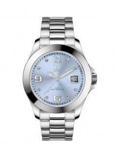 Ice-Watch 016775 ICE steel classic SR Stones Medium Uhr Datum Silber