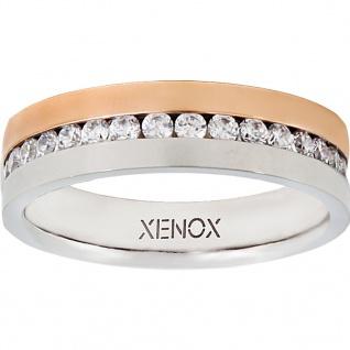 XENOX X2245-52 Damen Ring XENOX & friends Bicolor Rose Weiß 52 (16.6) - Vorschau 1