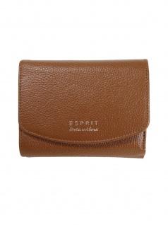 Esprit Damen Geldbörse Classic city wallet Leder Braun