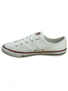 Converse Damen Schuhe CTAS Dainty Ox Weiß Leinen Sneakers Größe 38.5