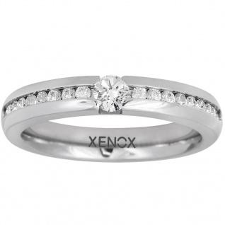 XENOX X5010-58 Damen Ring XENOX & friends Silber Weiß 58 (18.5)