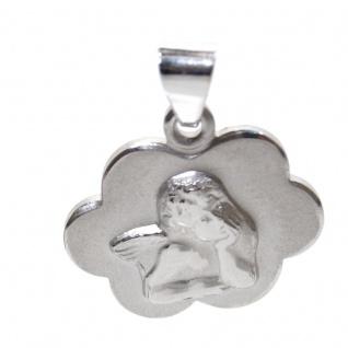 Basic Silber STG37 Kinder Anhänger Schutzengel Silber