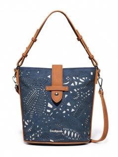 Desigual Damen Handtasche Tasche Henkeltasche HADES CARACAS Blau