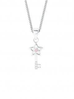 Prinzessin Lillifee 2024367 Collier Schlüssel Silber Rosa 38 cm