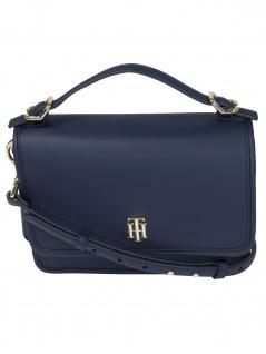 Tommy Hilfiger Handtasche Tasche Schultertasche TH Chic Crossover Blau