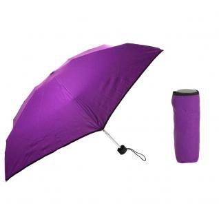 Flash Ultra Mini Flash solid Violett Regenschirm Taschenschirm