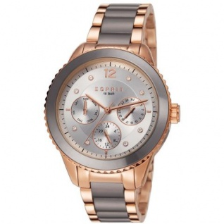 Esprit ES106712005 marin remix cool grey Uhr Damenuhr Datum rose