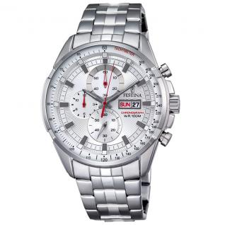 FESTINA F6844/1 Chronograph Uhr Herrenuhr Edelstahl Datum silber