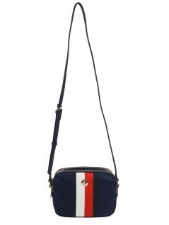 Tommy Hilfiger Handtasche Tasche Schultertasche Poppy Crossover Blau