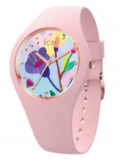 Ice-Watch 016654 ICE flower Pink garden S Uhr Damenuhr Kautschuk Rosa
