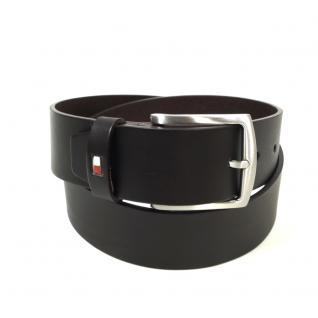 Tommy Hilfiger Herrengürtel New Denton Belt Braun Leder Gürtel 100 cm