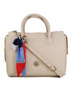 Tommy Hilfiger Damen Handtasche Tasche Charming Tommy Satchel Beige