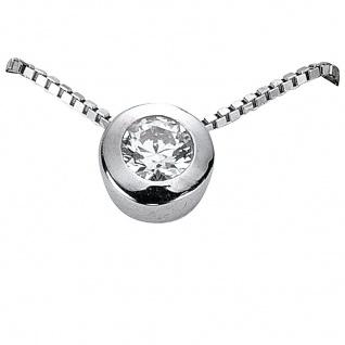 Basic Silber 21.2326 Damen Collier Silber Zirkonia weiß 42 cm