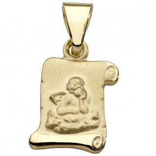 Basic Gold EN03 Kinder Anhänger Schutzengel 14 Karat (585) Gelbgold