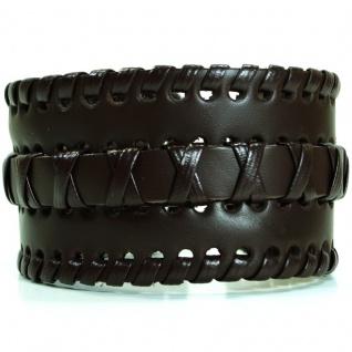 CJBB3990 Herren Armband Leder braun 23, 5 cm