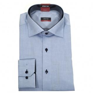 Eterna Herrenhemd 8100/12/X13K Modern Fit Blau Gr. XL/43