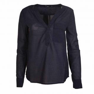 Only Damen Bluse DINA L/S PU Blusen Shirt Top Blau Gr. 38