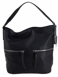 Esprit Damen Handtasche Tasche Henkeltasche Ivy Hobo Schwarz