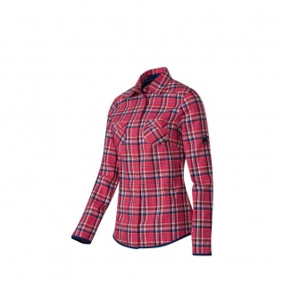 Mammut Damenbluse Langarm Ascona Shirt Women Rot Blau kariert Gr. XS