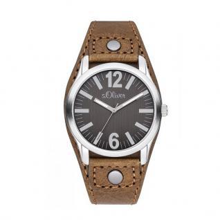 s.Oliver SO-2936-LQ Uhr Damenuhr Lederarmband Braun