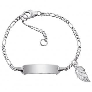 Herzengel HEB-ID-WING Mädchen Armband Flügel Silber 14 cm - Vorschau 1