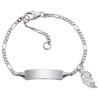 Herzengel HEB-ID-WING Mädchen Armband Flügel Silber 14 cm