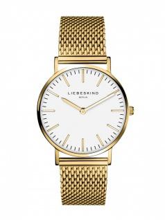 LIEBESKIND LT-0076-MQ Uhr Damenuhr Edelstahl Gold