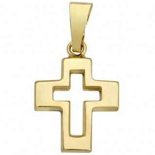 Basic Gold K08 Kinder Anhänger Kreuz 14 Karat (585) Gelbgold