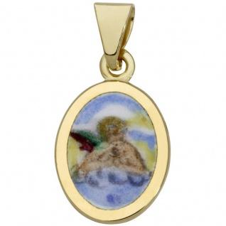 Basic Gold TG19 Kinder Anhänger Schutzengel 14 Karat (585) Gelbgold