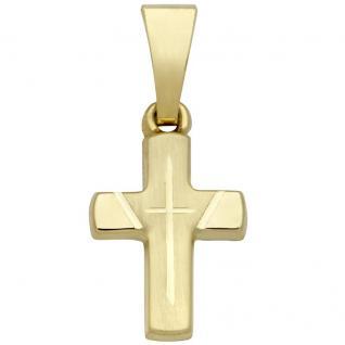 Basic Gold K34 Kinder Anhänger Kreuz 14 Karat (585) Gelbgold