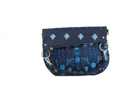 Desigual Damen Handtasche Tasche Schultertasche THALASSA FOLDED Blau
