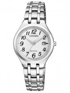 Citizen EW2480-83A DAU ELEGANCE Eco-Drive Uhr Damenuhr Datum Silber
