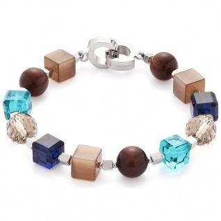 Leonardo 016384 Damen Armband Siena Darlin s Edelstahl Silber Braun 1b26d099dc