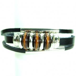 CJBB6389 Damen Armband Armband Leder schwarz