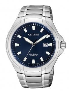 Citizen BM7430-89L Uhr Herrenuhr Titan Datum Silber